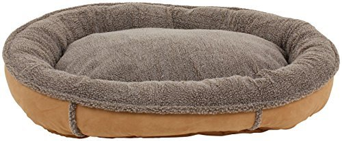 CPC Faux Suede & Tipped Berber 42-Inch Round Comfy Cup, Tan by Cpc (Comfy Round Cup)