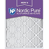 Nordic Pure 20x24x1M8-12 MERV 8 Pleated AC Furnace Air Filter, 20x24x1, Box of 12 by Nordic Pure