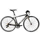 Cheap BEIOU 2016 Carbon Comfortable Bicycles 700C Road Bike LTWOO 210 Speed SRAM Brake Complete 18.3 lb Hybrid Bike Toray T800 Fiber CB0012B (White Gold, 500mm)