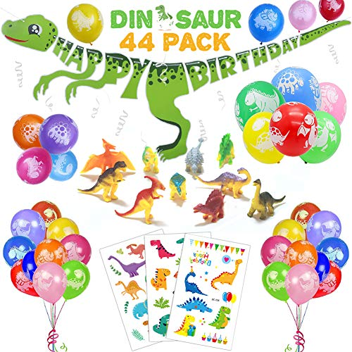 44 PACK Dinosaur Birthday Party Decorations for Kids