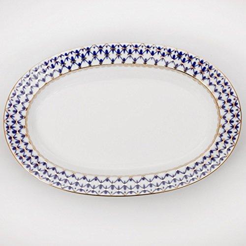 Imperial / Lomonosov Porcelain Herring Dish 'Cobalt Net'