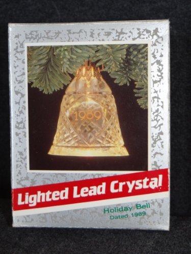 Hallmark Keepsake Magic Ornament 1989 - Lighted Lead Crystal Holiday Bell