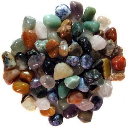 5 Pounds Brazilian Tumbled Polished Natural Stones Assort...