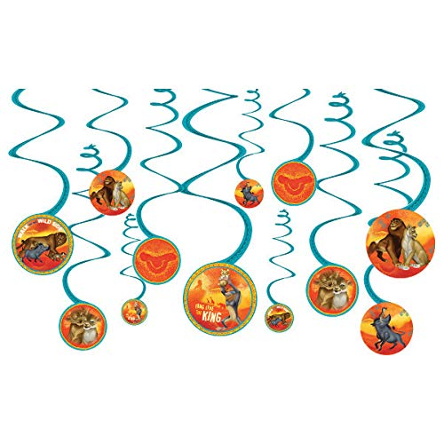 - New Lion King Movie Spiral Decorations, 12 pcs per pack
