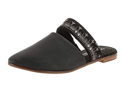 322d3b62c47 TOMS Women s Jutti Mule Black Leather Embroidered Strap 5 ...
