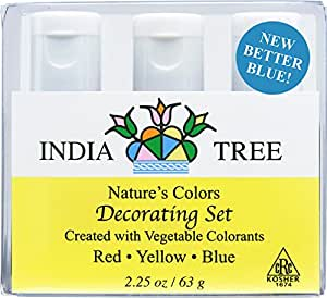 Amazon.com: India Tree Natural Decorating Colors, 3 bottles(red ...
