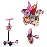 Mini-Factory Scooter Handlebar Spinning Wheel for Kids, Colorful Pinwheel Decoration for Kid's Scooter