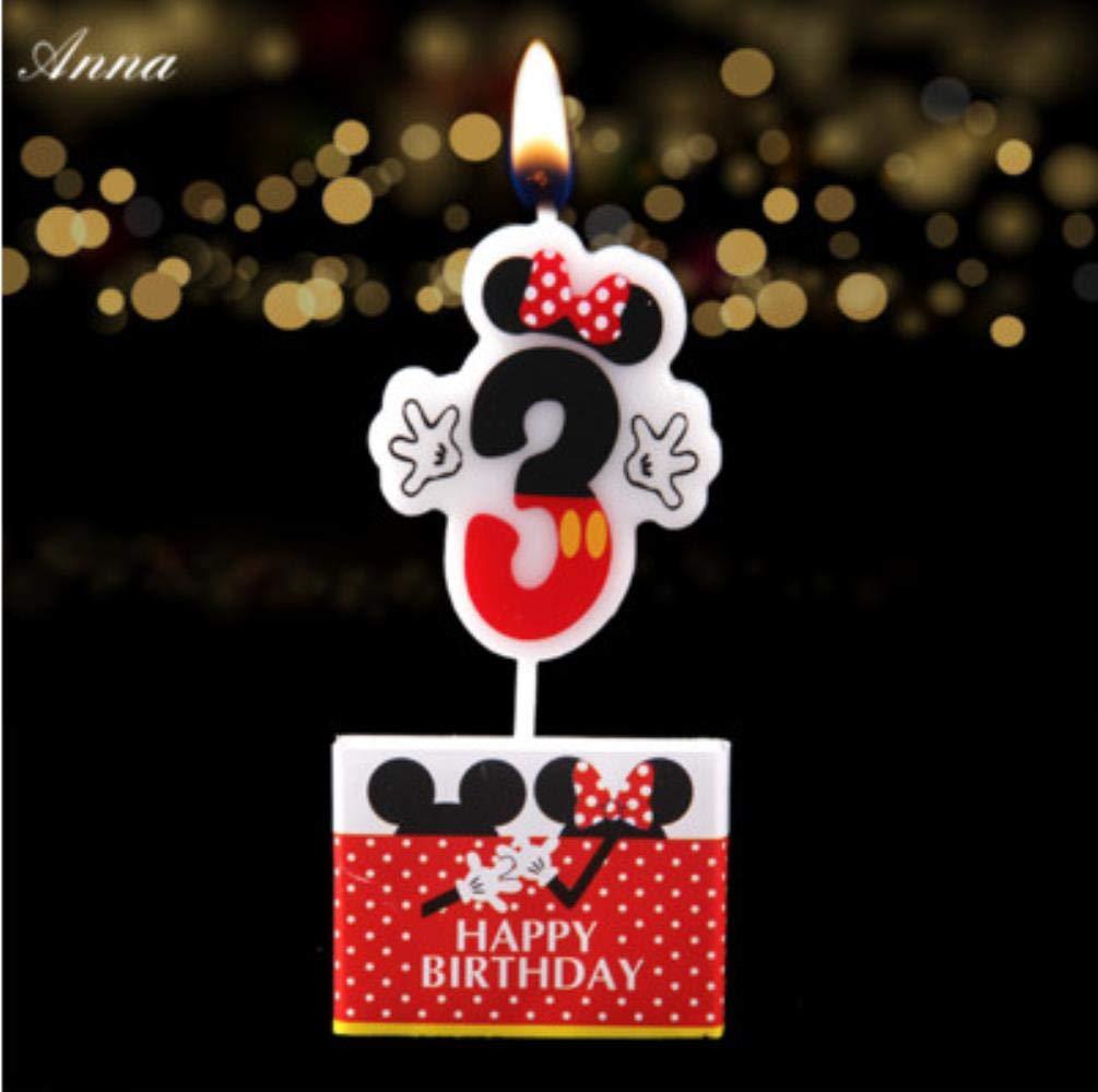 JW-online 1 PC Vela de cumpleaños de Dibujos Animados ...