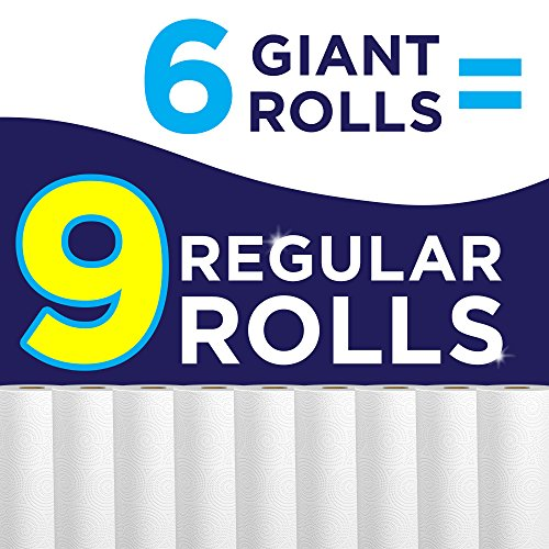 Sparkle Paper Towels, 6 Giant Rolls, Modern White, Pick-A-Size, 6 = 9 Regular Rolls by Sparkle (Image #2)