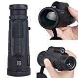 YOTHG 30x50 HD Monocular Telescope Waterproof Night Vision Telescope for Smart Phone Handheld Monocular Telescope with Tripod,Clip and Cleaning Cloth for Concert Camping Hiking Match(160x60x50mm)