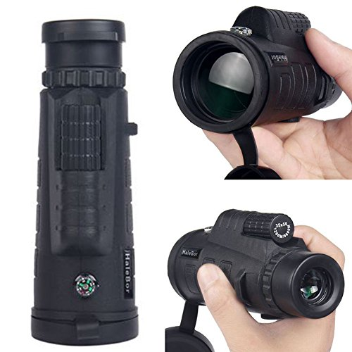 YOTHG 30x50 HD Monocular Telescope Waterproof Night Vision Telescope for Smart Phone Handheld Monocular Telescope with Tripod,Clip and Cleaning Cloth for Concert Camping Hiking Match(160x60x50mm) by YOTHG
