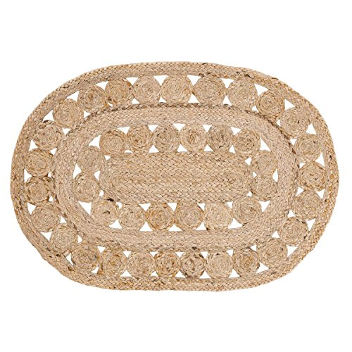 Coastal Farmhouse Flooring - Celeste Tan Oval Jute Rug, 1'8