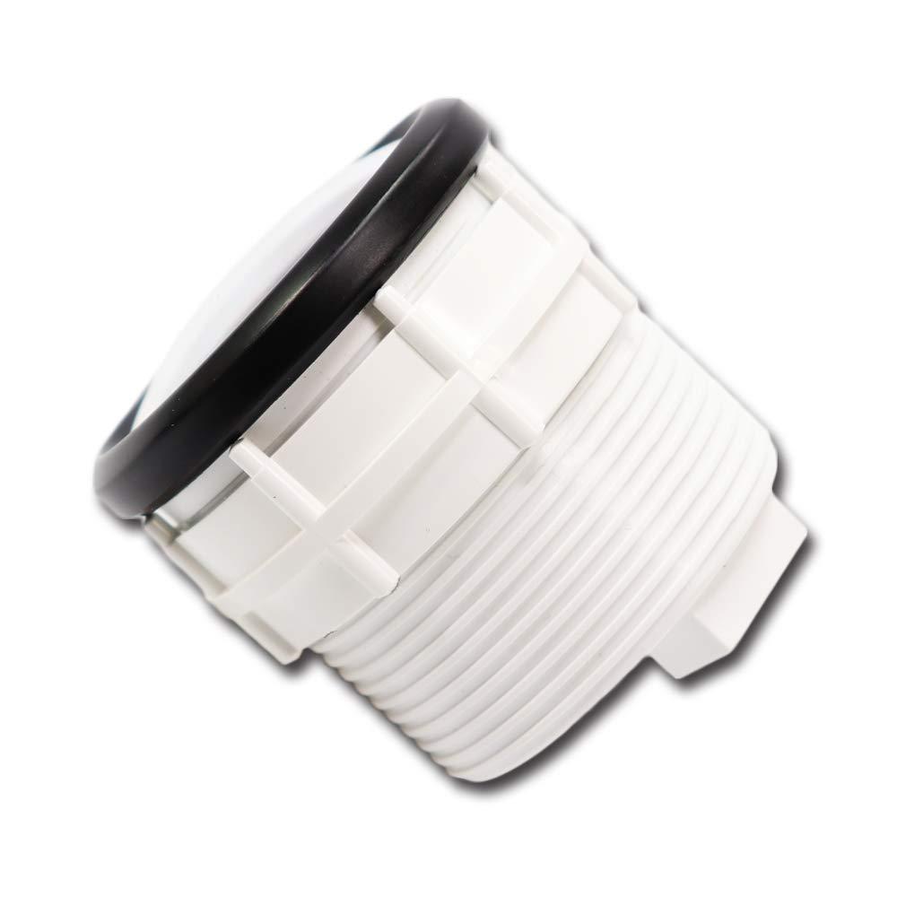 MOTOR METER RACING 2 inch 52mm Electric Diesel Tachometer Gauge kit for Generator alternator Engine tach rev 6000 RPM White LED Backlit Waterproof Black Bezel Black Dial