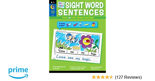 Creative Teaching Press Cut & Paste Sight Word Sentences