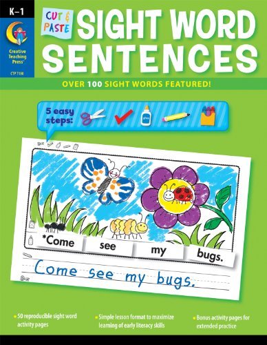 Cut & Paste Sight Words Sentences (CTP 7180)