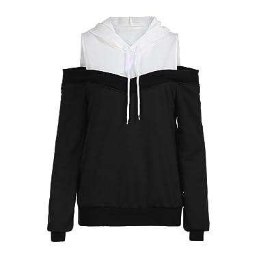DAY8 Sweat Capuche Femmes Vetements Sport T-Shirt Chic Soiree Printemps  Blouse Femme Grande Taille b9cee8d4c3d7