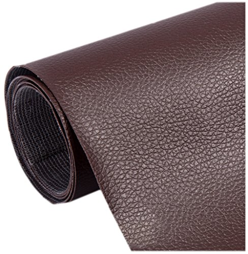 Ancefine Leather Repair Patch-Adhesive Backing-First Aid for Sofa,Car Seat,One Yard (Dark Brown) ()