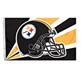 Fremont Die NFL Pittsburgh Steelers 3-by-5 Foot Helmet Flag