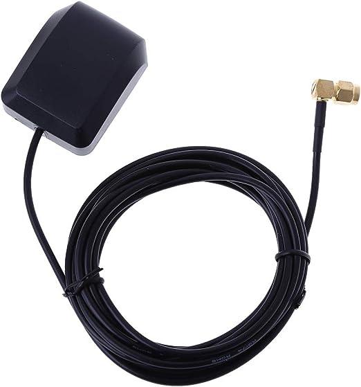 Anjuley - Antena GPS de 3 Metros con Antena Curvada Macho y ...