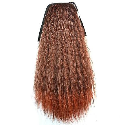 XUAN Las señoras pelucas cola de caballo maíz caliente cola de caballo atada fuegos artificiales caliente