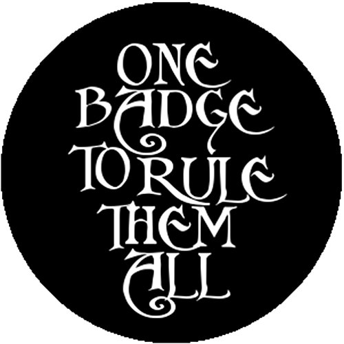 Handmade Button One Badge To Rule Them All Lord of the Rings Parody Geek Nerd (Lord Of The Rings Tcg Card List)