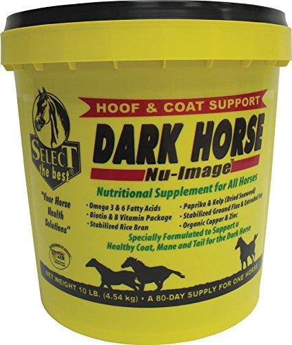 RICHDEL 784299621008 Dark Horse Nu-Image Hoof & Coat Support for Horses, 10 lb by RICHDEL