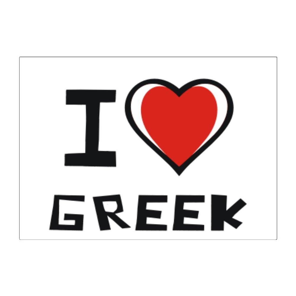 Amazon Teeburon I Love Greek Pack Of 4 Stickers Home Kitchen