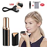 Haphome Epilator Facial Hair Removal for Women, Face Shavers Hair Remover with Rechargeable Battery, Women's Painless Hair Remover, Perfect for Face (Black)
