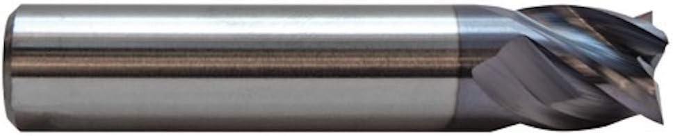 Carbide One USA Made Solid Carbide 4 Flute Square Stub Length AlTiN Coated End Mills 3//16 Dia A61132Z