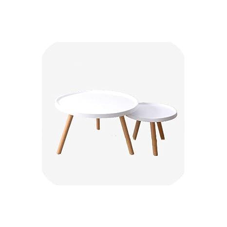 Amazon.com: Mesa auxiliar pequeña de madera maciza con ...