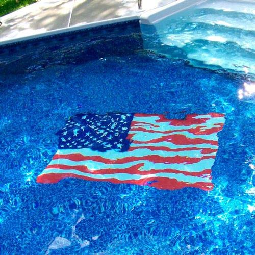 Floating Pong American Flag Pool Mat - Mosaic Pool Emblem - 59