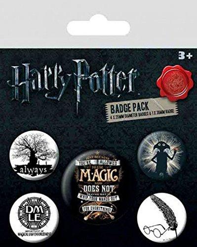 De X 10 Badges Cm Paquet 38mm Potter amp; 25mm 15 Symbols 4 1 Harry Y7fwOEqOH