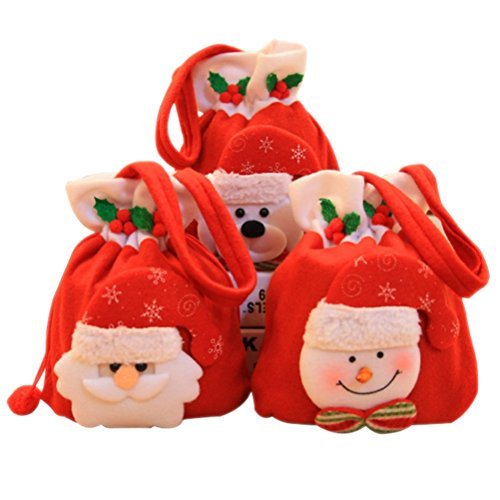 Homemade Boys Angel Costumes (Peitero Handbag Gift Candy Bag Kids Santa Storage Bags Party Xmas Decor£¨The cloth bag bears a brushed£)