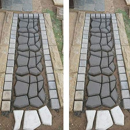 Wiederverwendbare Pfad Boden Mold DIY Path Maker Garten Rasen Pflaster Betonform