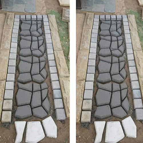 para jard/ín y c/ésped duradero Molde para hormig/ón reutilizable para hacer pavimentos
