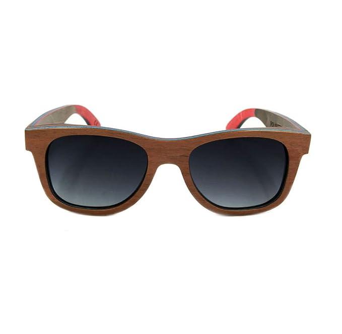 QIQIZHANG Gafas De Sol De Madera Verdes Gafas De Skate De ...