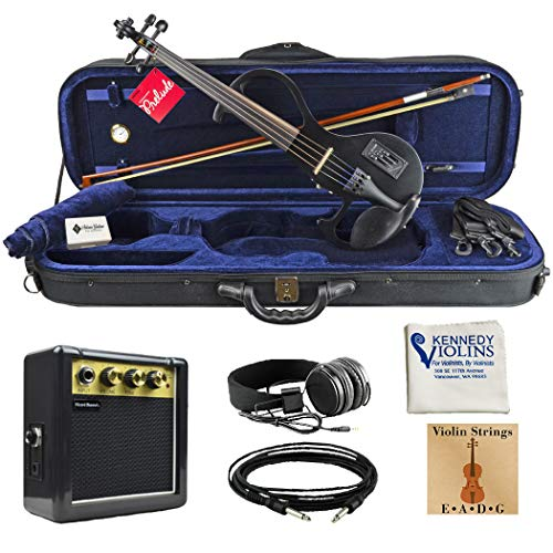 Bunnel EDGE Clearance Electric Violin Outfit Jet Black Amp Included BE300