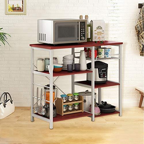 Iuhan  Kitchen Baker's Rack Utility Storage Shelf, 3-Tier Kitchen Baker's Rack Utility Microwave Oven Stand Storage Cart Workstation Shelf Stand Organizer by Iuhan  (Image #2)