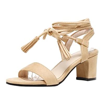 TAOFFEN Damen Fashion Sandalen Schnurschuhe