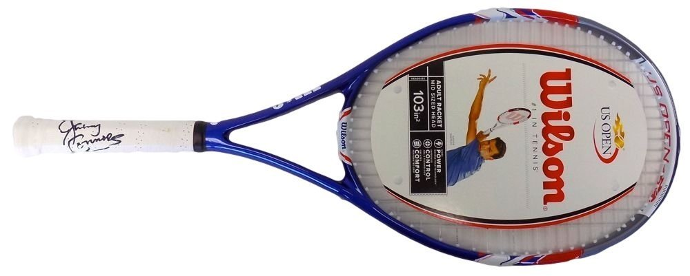 Jimmy Connors Signed Wilson US Open Tennis Racquet (MAB - JCONTR1) at Amazons Sports Collectibles Store