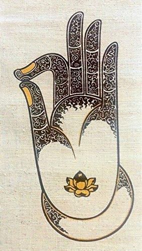 Amazon Small Wall Hanging Batik Tapestry Buddha Vitarka Gyan