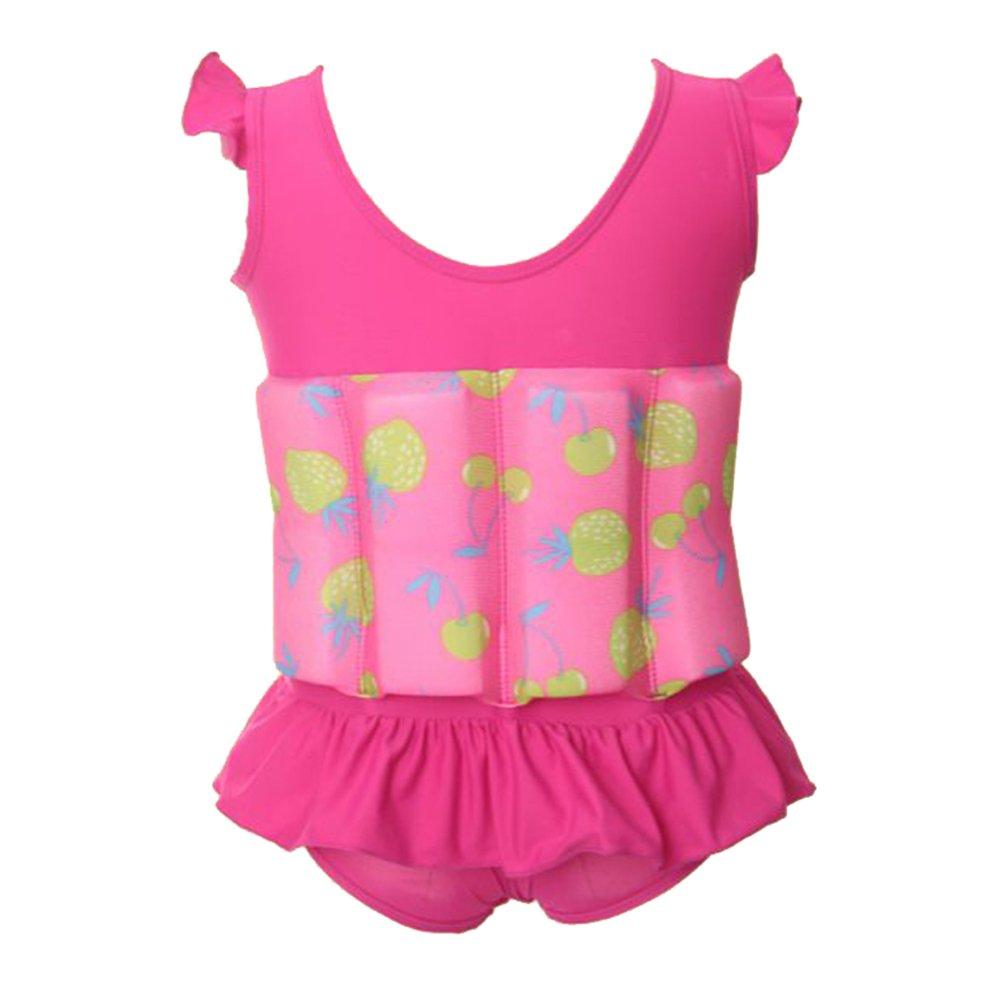 Eizur - Bañador para niños/as con flotador incorporado, todo en uno, ajustable., rosa rojo, medium: Amazon.es: Deportes y aire libre
