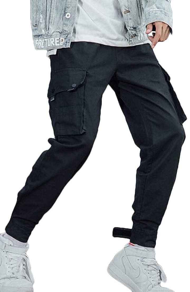 UUYUK Men Hip Hop Outdoor Cargo Rugged Harem Jogging Pants