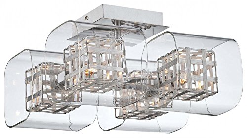 George Kovacs P802-077, Jewel Box, 4 Light Semi Flush, ()