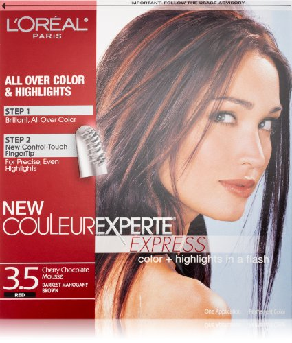 L'Oréal Paris Couleur Experte Hair Color + Hair Highlights, Dark Mahogany Brown - Chocolate Mousse (Brown Dark Highlights)