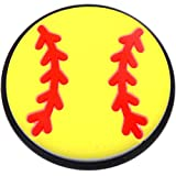 Softball Rubber Charm for Wristbands and Shoes