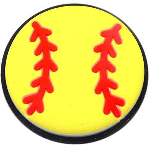 Softball Rubber Charm for Wristbands and Shoes ()