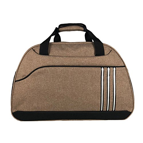 snfgoij Bolsas De Gimnasio Para Hombre Holdall Travel Holdall Bag Bolso De Equipaje Impermeable Simple Casual De Gran Capacidad Diagonal Travel Bag Marrón