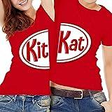 Kit Kat Matching Couple Chocolate Bars Funny Friend Couple Family Kids Halloween Costume Outfit Customized Handmade T-Shirt Hoodie/Long Sleeve/Tank Top/Sweatshirt