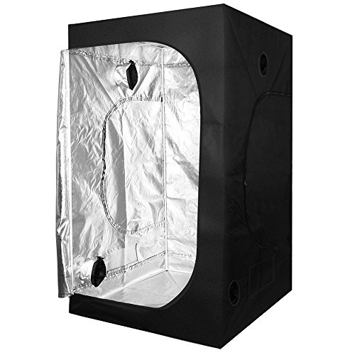 $76.00 indoor grow tent reviews KinGrow 40″x40″x80″ Reflective 600D Mylar Hydroponic Grow Tent Observation Window Floor Tray Indoor Plant Growing 2019